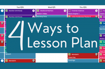 4 Ways to Lesson Plan in your Homeschool